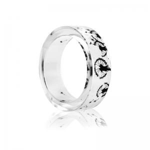 Dandelion Resin Transparent Round Ring