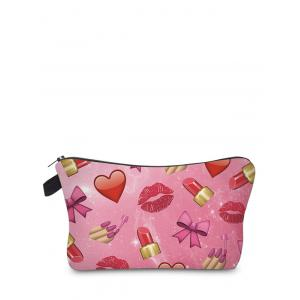 Emoji Print Clutch Makeup Bag