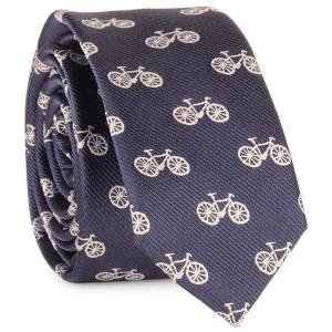 Plain Bicycle Printing Neck Tie