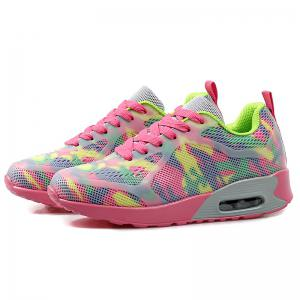 Floral Print Air Cushion Athletic Shoes - RED AND GREEN 39