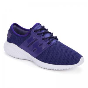 Color Block Sports Breathable Sneakers - Purple - 38