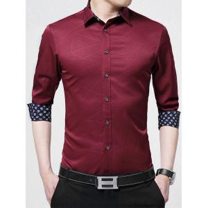 Geometric Long Sleeve Business Shirt