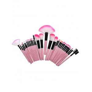 32Pcs Aluminum Tube Beauty Makeup Brushes Set