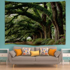 Trees Avenue Print Tapestry Wall Hanging Art Decoration -