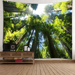 Tree Forest Waterproof Wall Art Tapestry -