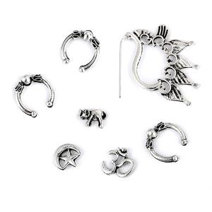 Punk Ear Cuffs Stud Earrings and Ear Climber