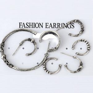 7 Pieces Punk Rock Hoop Earrings