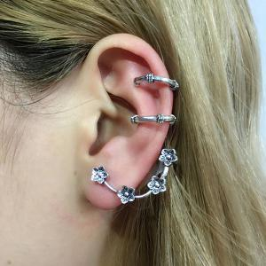Two Horseshoe Ear Cuffs and Wintersweet Ear Climber -