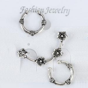 Two Horseshoe Ear Cuffs and Wintersweet Ear Climber - Silver