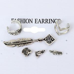 6 Pieces Ethnic Ear Cuffs