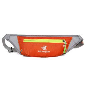 Color Block Waist Bag with Headphone Hole - Orange - 38