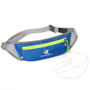Color Block Waist Bag with Headphone Hole