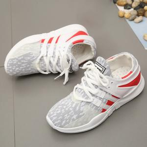 Breathable Colour Block Athletic Shoes - LIGHT GRAY 37