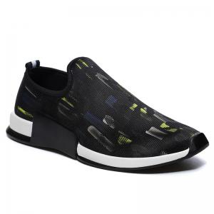 Color Block Mesh Slip On Athletic Shoes