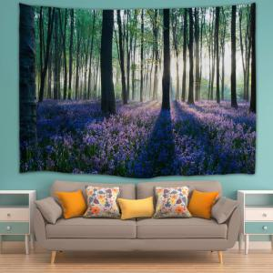 Forest Floral Print Tapestry Wall Hanging Art Decoration -