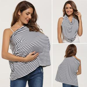 Breastfeeding Portable Striped Nursing Cover Scarf