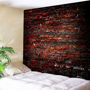Brick Print Waterproof Wall Hanging Tapestry -