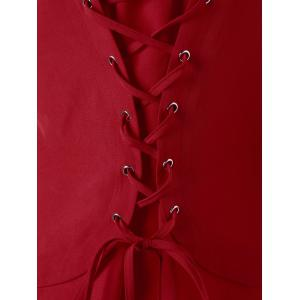 Lace Up Shirttail Hem - Rouge L