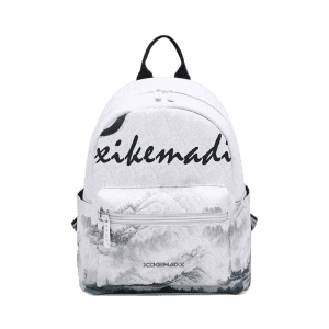 Painted PU Leather Backpack -