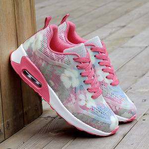 Floral Print Air Cushion Athletic Shoes -
