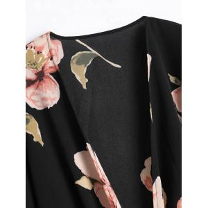 Floral Flare Sleeve Bowknot Blouse -