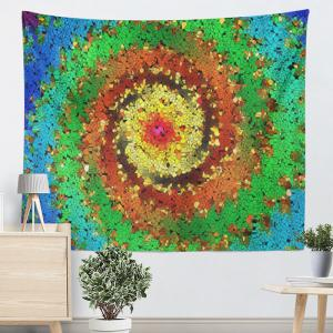 Wall Hanging Colorful Vortex Printed Tapestry -
