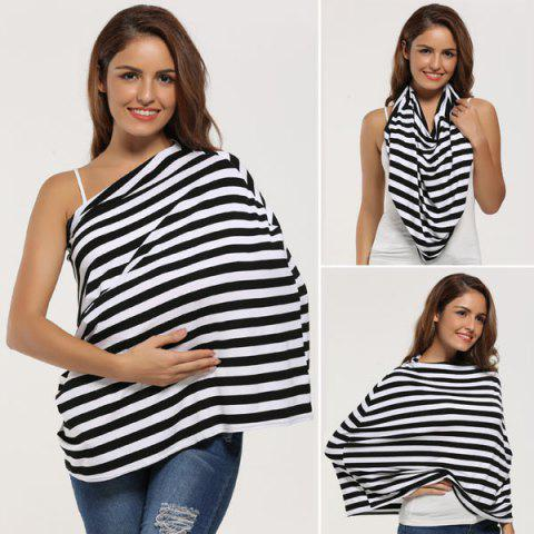 Fashion Breastfeeding Nursing Scarf - BLACK  Mobile