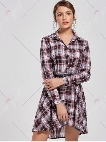 Hot Checked Shirt Dress - XL COLORMIX Mobile