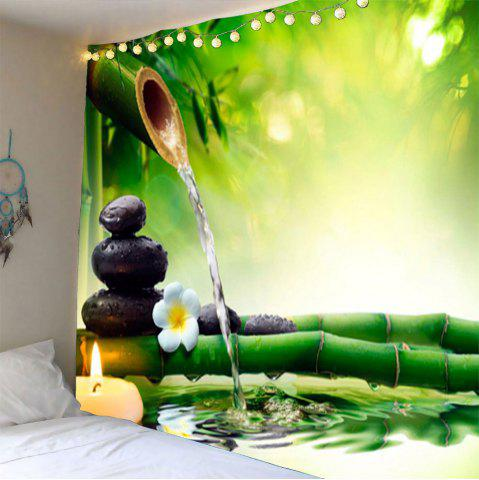 Outfits Bamboo Water Stone Print Waterproof Wall Art Tapestry