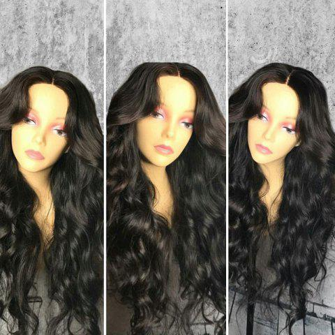 Long Middle Part Fluffy Loose Wave Synthetic Wig - Black