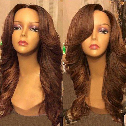 Outfit Free Part Long Wavy Synthetic Wig BROWN