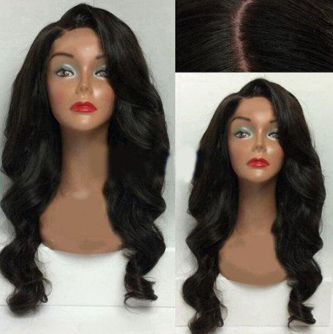 Buy Long Side Part Body Wave Synthetic Wig - BLACK  Mobile