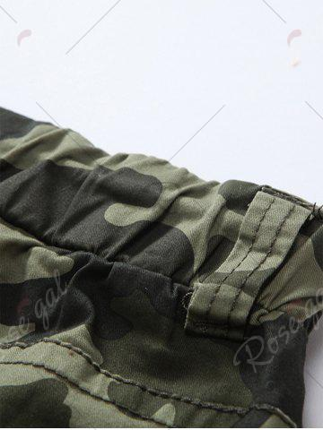 New Camouflage Drawstring Beam Feet Jogger Pants - 38 ARMY GREEN CAMOUFLAGE Mobile