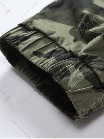 Online Camouflage Drawstring Beam Feet Jogger Pants - 38 ARMY GREEN CAMOUFLAGE Mobile