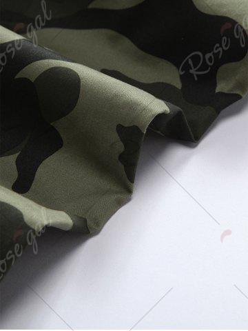 Outfit Camouflage Drawstring Beam Feet Jogger Pants - 38 ARMY GREEN CAMOUFLAGE Mobile
