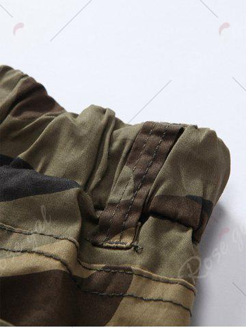 Shops Camouflage Drawstring Beam Feet Jogger Pants - 38 CLEMENTINE Mobile