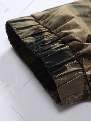 Outfits Camouflage Drawstring Beam Feet Jogger Pants - 38 CLEMENTINE Mobile