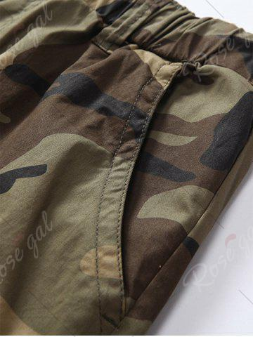 Outfit Camouflage Drawstring Beam Feet Jogger Pants - 38 CLEMENTINE Mobile