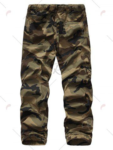 Store Camouflage Drawstring Beam Feet Jogger Pants - 38 CLEMENTINE Mobile