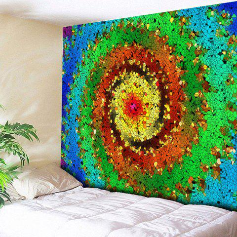 Affordable Wall Hanging Colorful Vortex Printed Tapestry