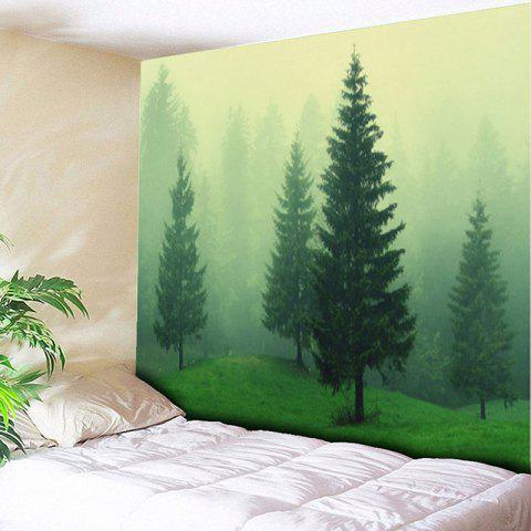 Latest Fog Forest Print Tapestry Wall Hanging