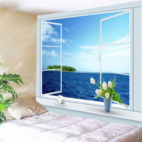 New Window Ocean Print Tapestry Wall Hanging Art Decoration