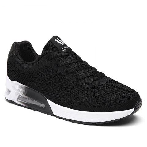 Trendy Breathable Air Cushion Athletic Shoes - 39 BLACK Mobile