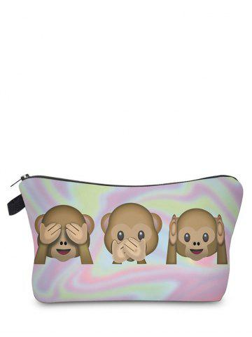 Shops Emoji Print Clutch Makeup Bag