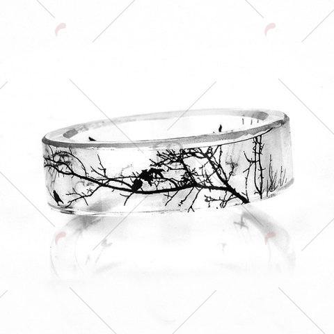Outfit Tree Branch Bird Transparent Resin Ring - 9 TRANSPARENT Mobile