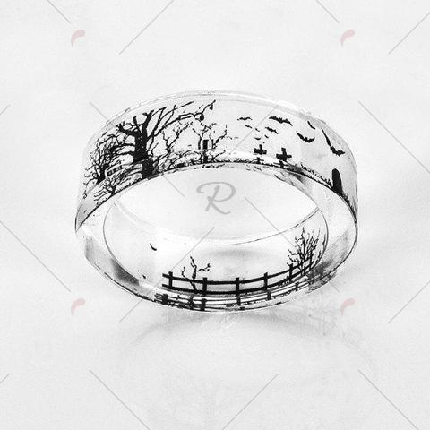Outfit Transparent Tree of Life Bat Resin Ring - 8 TRANSPARENT Mobile