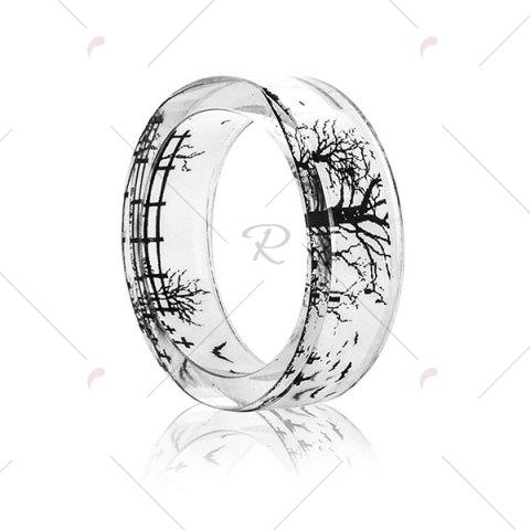 Cheap Transparent Tree of Life Bat Resin Ring - 8 TRANSPARENT Mobile