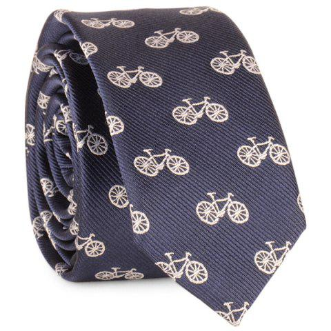 Outfits Plain Bicycle Printing Neck Tie - DEEP BLUE  Mobile