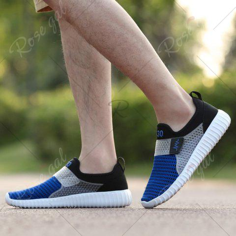 Chic Breathable Figure Pattern Casual Shoes - 43 BLUE AND BLACK Mobile