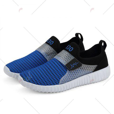 Outfits Breathable Figure Pattern Casual Shoes - 43 BLUE AND BLACK Mobile